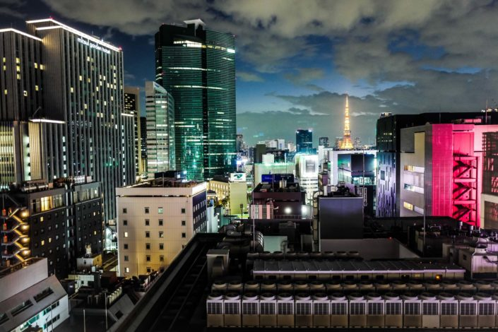 Tokyo Ginza from G6 terrace