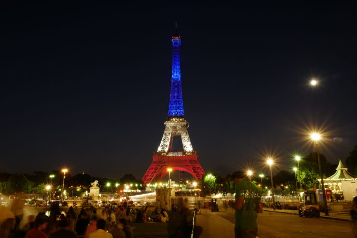 Eiffel Tower night picture
