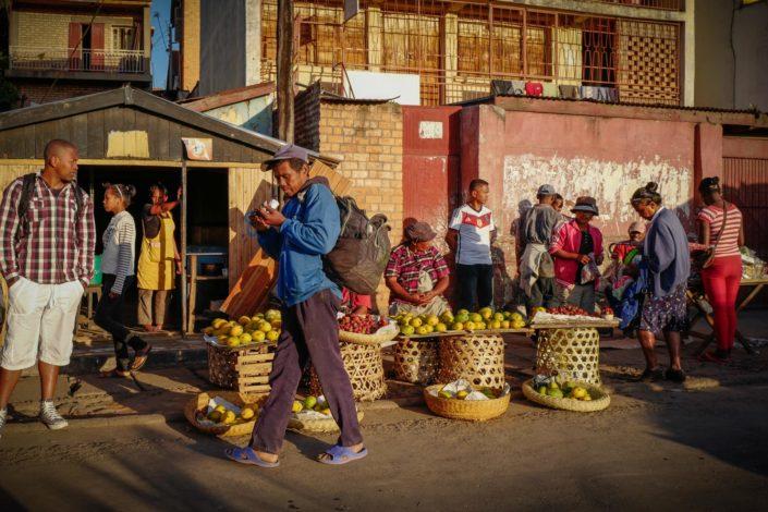 Antatnanarivo street photography madagascar loacal market