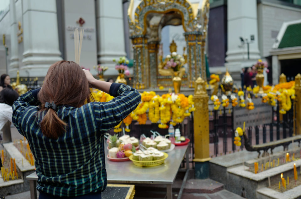 3 major Shrines around Central World (Pathum Wan District) Bangkok