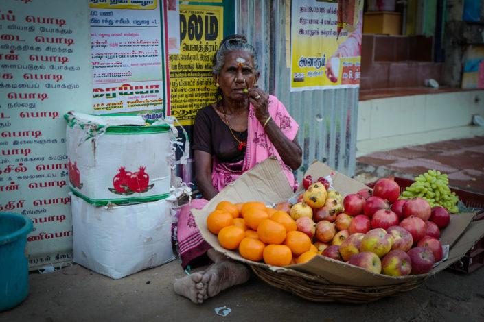 fruit street market Madurai