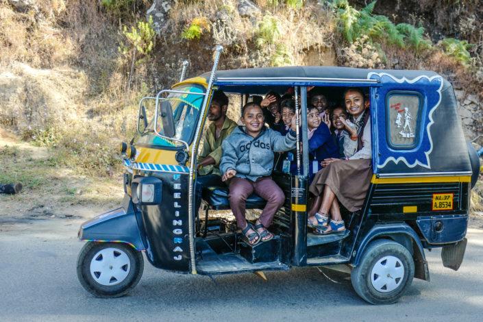 tuk tuk school bus India