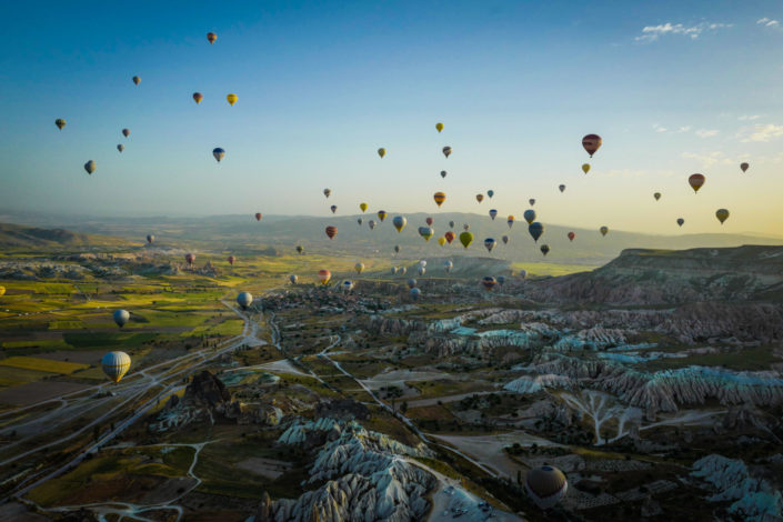 Cappadoce Montgolfières Kapadokya balloons